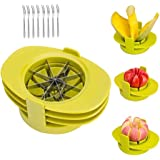 Henshow 4-in-1 Fruit Slicer, Apple Pear Mango Tomato Slicer Corer Cutter, Dishwasher Safe Fruit Tools