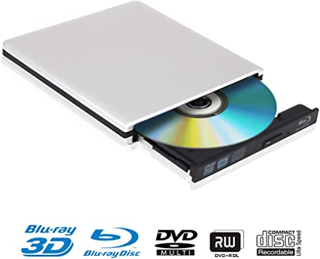 Blu Ray 4K Reproductor Grabadora DVD Externo Portatil Grabadora de ...