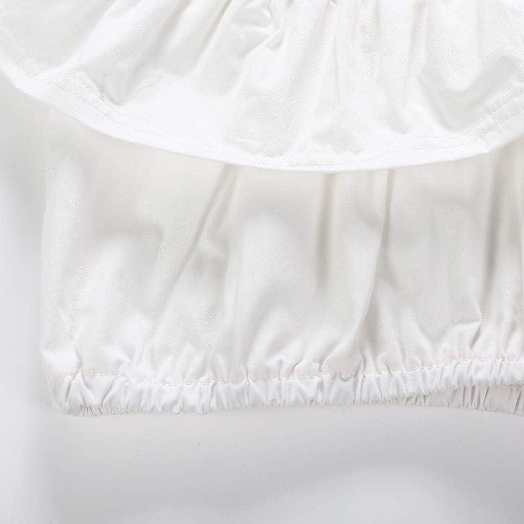 Shorts Hosen Stirnband Outfits sch/önes Hemd und Hose MRULIC Baby M/ädchen Anzug Schulterfrei R/üschen Tops