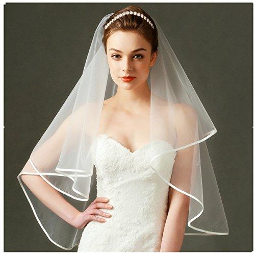 Bridal Veils Headpieces (Wedding Bridal Headband set - Alinay Rose Gold with Round Crystals Bridal Headpiece and Wedding Veil)