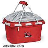 PICNIC TIME 645-00-100-332-0 Miami University Ohio Embroidered Metro Picnic Basket, Red