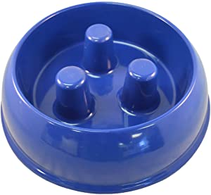 QT Dog Brake-Fast Dog Bowl, Medium, Brown