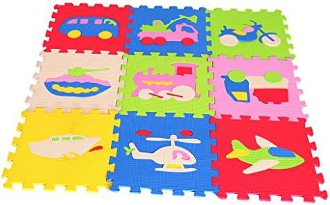 ベビージム プレイマット シリーズ パズルマット ベビープレイマット ジョイントマット 動物/海洋/果物の形 - トラフィックB, 約30 * 30 * 0.8cm