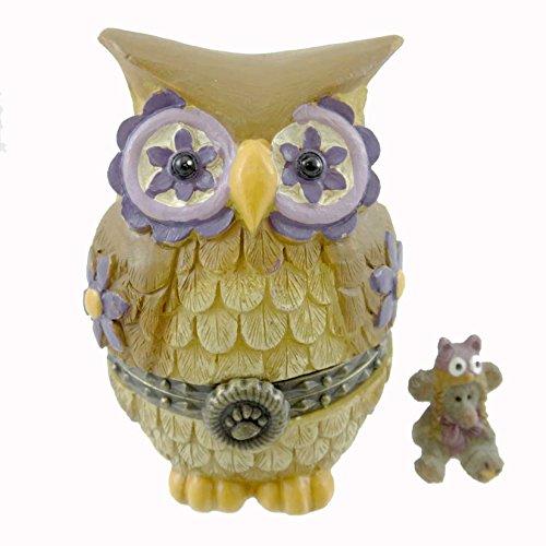 Boyd Bear Miss Owl with Hootie Mcnibble Treasure Box 2013 by Boyd's (Treasure Bear)