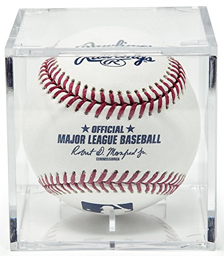 BallQube Grandstand Baseball Holder Acrylic Display - Made in the (Ballqube Baseball Holder)