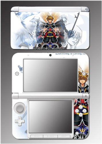 Kingdom Hearts Mickey Mouse Goofy Sora Keyblade Minnie Video Game Vinyl Decal Cover Skin Protector for Nintendo 3DS XL