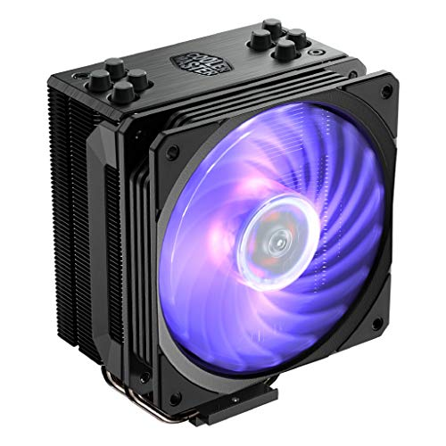 Cooler Master RR-212S-20PC-R1 Hyper 212 RGB Black Edition CPU Air Cooler 4 Direct Contact Heat pipes 120mm RGB Fan (Best Cpu Coolers For I7 7700k)