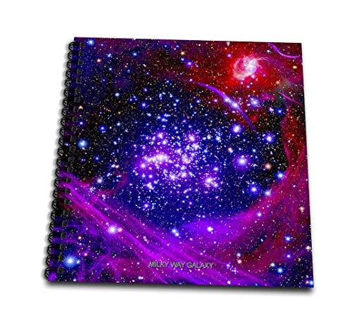 3dRose Galaxy and Nebula-Milky Way Galaxy-Mini Notepad, 4 by 4