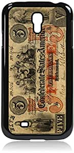 Vintage US of A Five Dollar Bill- Case for the Samsung Galaxy S4 i9500- Hard Black Plastic Snap On Case with Soft Black Rubber Lining