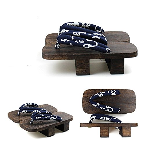 Nuoqi JapanClogs Flip Flops Wooden Geta Sandals Cosplay Accessories SEM29A-27 from Nuoqi