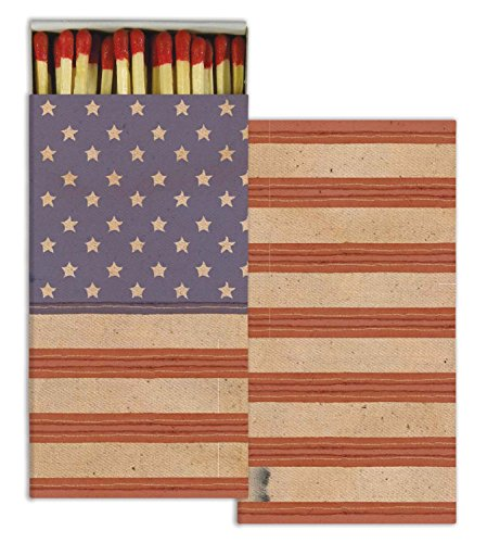 Matches - Flag - Old Glory - American Flag (Set of 3) - American Flag Candles