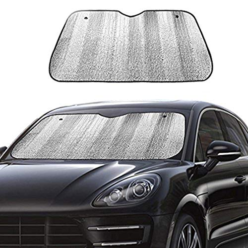 Big Ant Car Windshield Sunshade UV Ray Reflector Auto Window Sun Shade Visor Shield Cover, Keeps Vehicle Cool- Sliver (55' x 27.5')