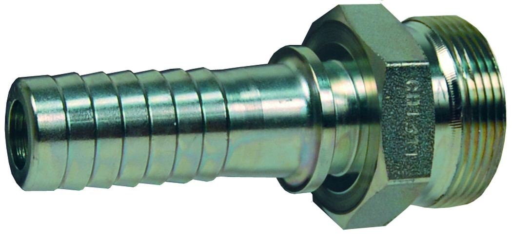 Plated Steel 1 ID 1 ID Dixon GH1311 Boss Spud x Hose Shank with Polymer Seat
