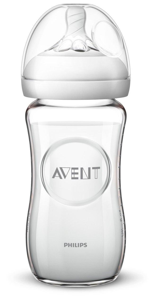 Ensemble 3 pièces Philips Avent Verre Feeding Baby Bottle BPA Free 240 ml BRAND NEW