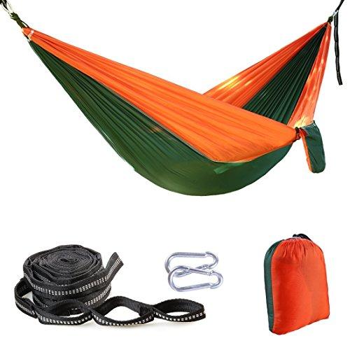 Balichun-Parachute-Hammock-500lbs-Capacity-with-2-Tree-Strapsfor-Indoor-OutdoorUltralight-Portable-Multifunctional-210T-Nylon-Single-Hammocks-for-Light-Travel-Camping-Hiking-Backpacking-Beach-Patio