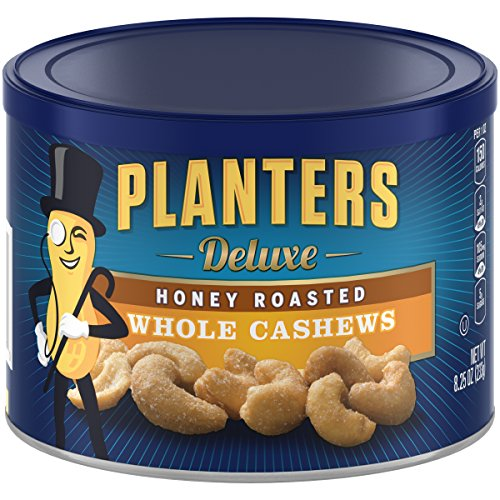 (Planters Deluxe Whole Cashews Honey Roasted, 8.25 oz(Pack of 3))