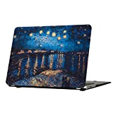 MacBook Pro 13 Case 2016 2017 2018, Funut Hard Plastic Cover Matte Rubberized Protective Case for 2016 2017 2018 Mac Pro 13 A1706 A1708 A1989 with/Without Touch Bar & ID (Starry Night Over The Rhone)