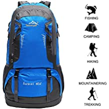 60 L Waterproof Ultra Lightweight Packable Climbing Fishing Traveling Backpack Hiking Daypack,Backpack,Handy Foldable Camping Outdoor Backpack Bag with a Rain Cover