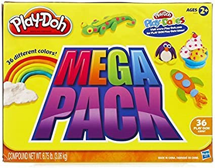 Toys for Children,Play-doh Mega Pack 36 cans by Play-Doh: Amazon ...