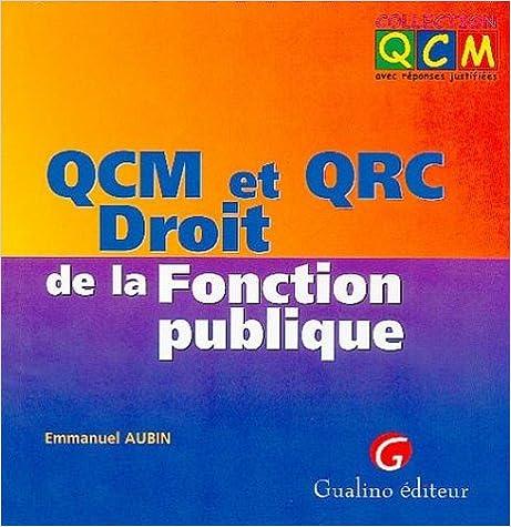Qcm Et Qrc Droit De La Fonction Publique Pdf Welcome To Paradise