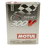 Motul MTL104242 300V 5w40 Synthetic Racing Oil, 2 Liters