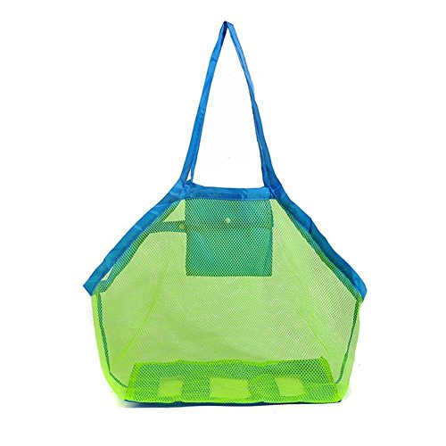 Easyinsmile Beach Mesh Tote Bag Sand Away Tote Bag for The Beach,Pool, Boat Family Children Play