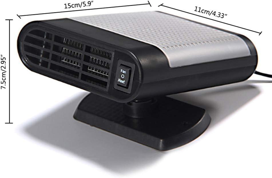 DE Voiture D/égivreur Prise Plug en Allume Cigare Rotatif /à 360//° avec Support KOBWA Portable de Pare-Brise 12/V 150/W 2/en 1/Portable v/éhicule Ventilateur de Refroidissement de Chauffage