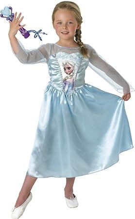 Rubies Frozen - Disfraz Elsa Classic con micro, para niños, 7-8 ...