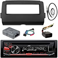 Audio Bundle For 2014 and Up Harley - JVC KD-R670 Marine Stereo CD Receiver Bundle Combo With Dash Install Kit, Handle Bar Controller for Motorcycle, Enrock 22 Radio Antenna