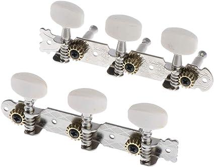 3+3 Clavijas de Afinación Clavijero de Repuesto para Guitarra ...