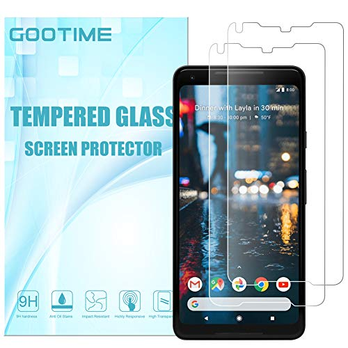 Gootime Screen Protector for Pixel 2 XL [Case Friendly] Google Pixel 2XL Screen Film [Easy to Apply] Google Pixel 2 XL Tempered Glass Cover (2 Pack)