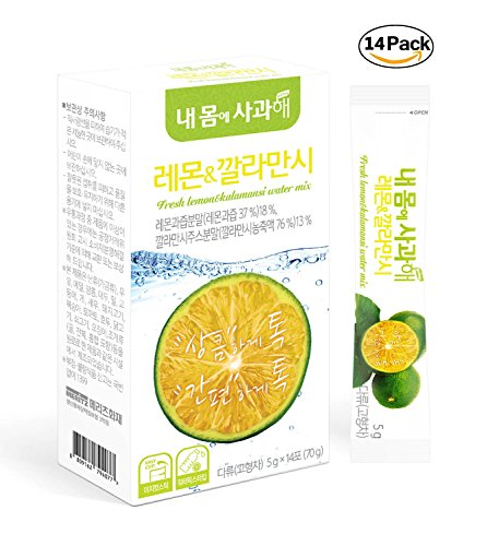 Refreshing Drink Design - [Dr. MOON] LEMON & CALAMANSI D-TOC DIET WATER MIX (5g x 14 packets) NEW PACKAGE DESIGN – A Healthy Diet, Detoxify & Refresh Your Body, Calamansi, Lemon, Green Tea, Chicory Root Extracts, Vitamin C