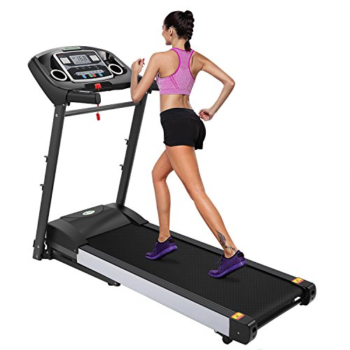 ANCHEER Electric Folding Treadmill Health Fitness Training Equipment 525 (GREY) by ANCHEER