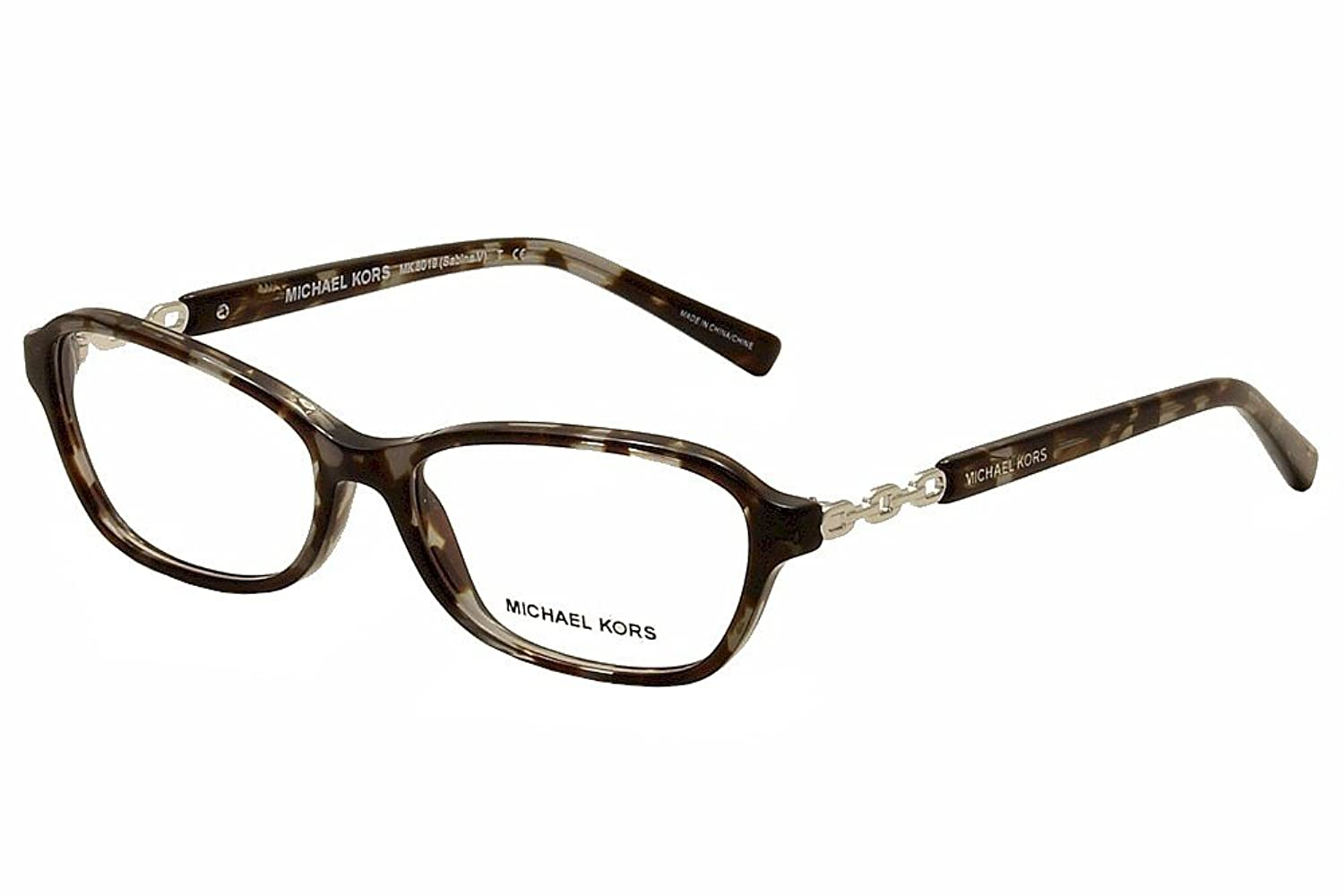 michael kors sabina v mk8019 eyeglass frames 3107 51 black tortoisesilver mk8019 3107 51 at amazon womens clothing store - Mk Glasses Frames