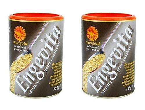 (2 PACK) - Engevita Nutritional Yeast Flake| 125 g |2 PACK - SUPER SAVER - SAVE MONEY by Marigold Health Foods Ltd
