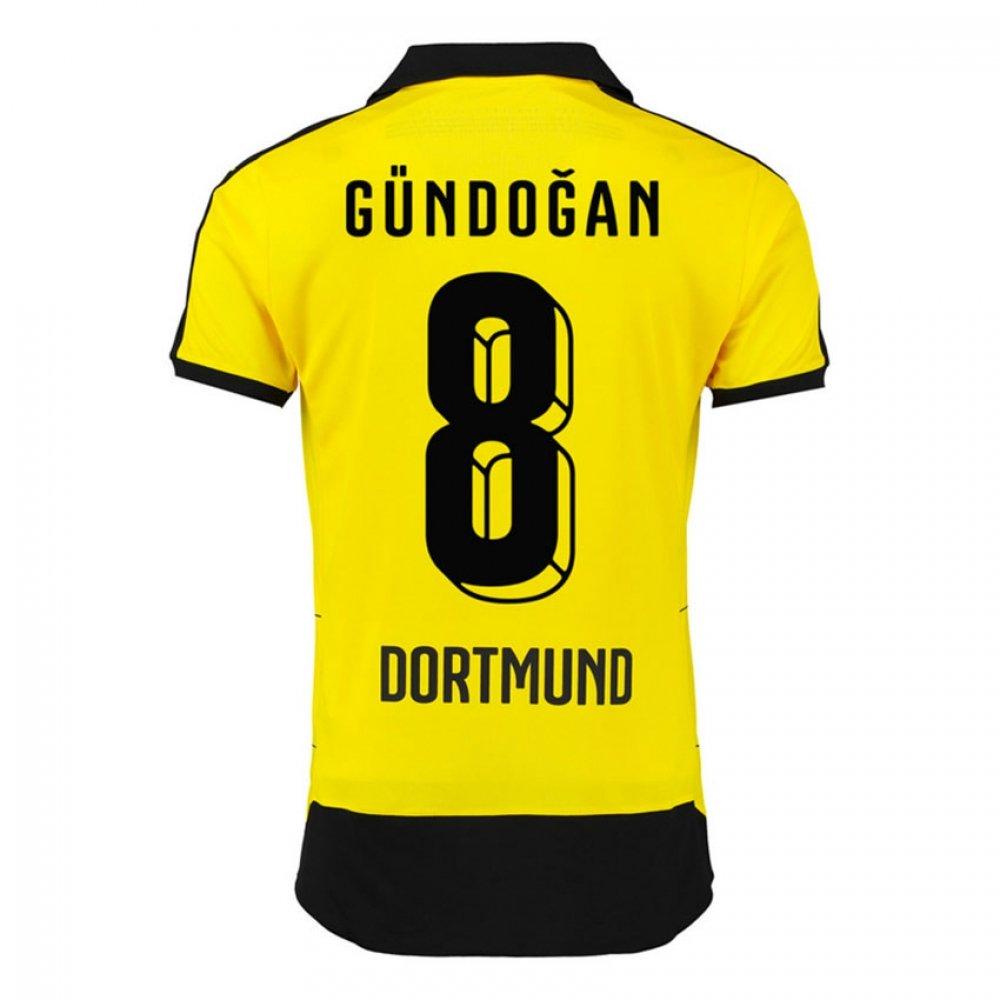 2015-16 Borussia Dortmund Home Shirt (Gundogan 8) B077VLDKVTBlack XL Adults