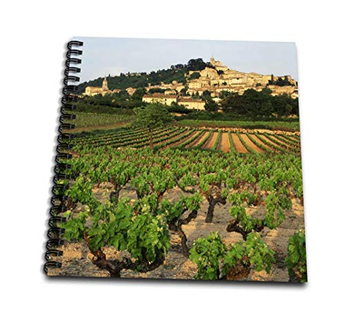 3dRose db_136450_1 Vineyard, Luberon, Bonnieux, Vaucluse, France Eu09 Dbn0837 David Barnes Drawing Book, 8
