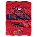"MLB St. Louis Cardinals Structure Micro Raschel Throw, 46"" x 60"""