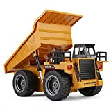 rc dump trucks with trailer - Omnfas Alloy Remote Control Dump Truck 4 Wheel Driver Mine Construction Vehicle Toy Machine Model with LED Light