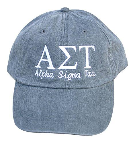Mega_Greek Alpha Sigma Tau Script Baseball Cap