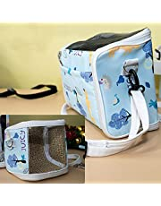 Gatycallaty Small Animal Guinea Pig Hamster Squirrel Hedgehog Chinchilla Sugar Glider Ferret Parrot Rat Mouse Carrier Bag Travel Pets Pouch Purse Outgoing Outdoor Portable with Shoulder Strap