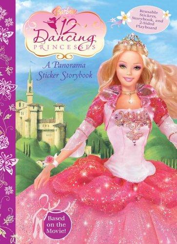 - Barbie and The Twelve Dancing Princess Panorama Sticker Storybook