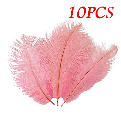 Christmas Ornaments Feather (Clearance Tuscom 10Pcs Solid Color Party Fun Feathers for Wedding Parties Hotel and Home Decoration (10 Colors) (Pink))