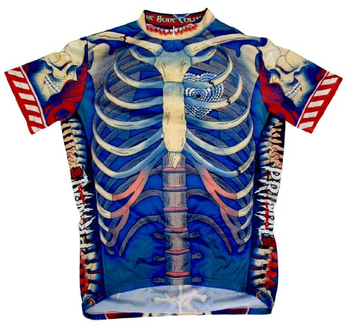 """Primal Bone Collector Cycling Jersey-comes with free DeFeet socks ALL SIZES, XL-fits 42"""" to 44"""" chest"""