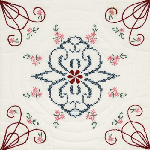 Fairway 98110 Quilt Blocks, Interlocking Pattern Design, Whi