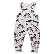 Summer Baby Boys Animal Printed Sleeveless Romper One-piece Bodysuit Jumpsuit Outfits Grey (90cm/6-12 Months)