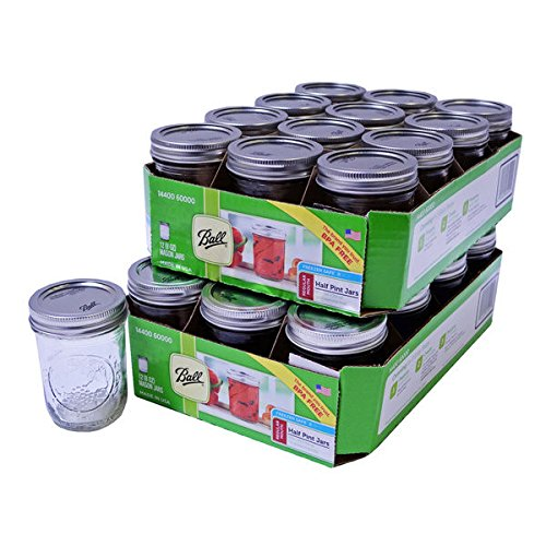 Ball Half-pint 24-Pieces 8-oz Mason Jars with Lid