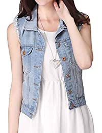 Sleeveless Cutoffs Cardigan Denim Jacket Vest Coat