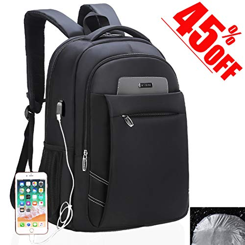 Laptop Backpack, USB Business Travel Bags Water-resistent with Rain cover School Computer Backpack, 15.6 Inch -