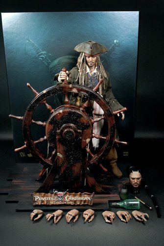 Pirates of the Carribean Hot Toys DX Movie Masterpiece 1//6 Scale Collectible Figure Jack Sparrow DX06